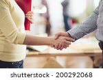 meeting in architects office | Shutterstock . vector #200292068