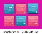 set of modern editable square...   Shutterstock .eps vector #2002935059