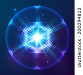 cosmic blue shining lights... | Shutterstock . vector #200294813