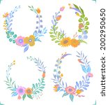 colorful floral flowers... | Shutterstock .eps vector #2002950650