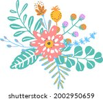 colorful floral flowers... | Shutterstock .eps vector #2002950659