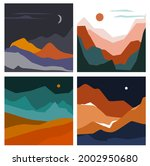set of abstract wavy shapes... | Shutterstock .eps vector #2002950680