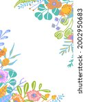 colorful floral twigs branches... | Shutterstock .eps vector #2002950683