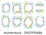 set of different colorful... | Shutterstock .eps vector #2002950686