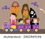 amusement park vector concept.... | Shutterstock .eps vector #2002969196