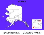 district map of alaska in... | Shutterstock .eps vector #2002977956