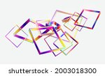 abstract 3d geometric shape of... | Shutterstock .eps vector #2003018300