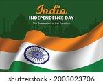 illustration of flag of india... | Shutterstock .eps vector #2003023706