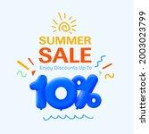special summer sale banner 10 ...   Shutterstock .eps vector #2003023799