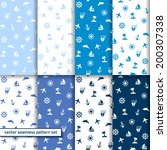 marine seamless patterns set.... | Shutterstock .eps vector #200307338