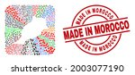 vector collage morocco map of... | Shutterstock .eps vector #2003077190