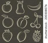 set of fruits  fruit  apple... | Shutterstock .eps vector #200308076