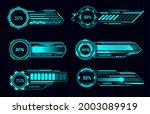 hud futuristic loading bars and ...