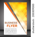 business flyer template or... | Shutterstock .eps vector #200309000