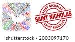 vector collage saint barthelemy ... | Shutterstock .eps vector #2003097170