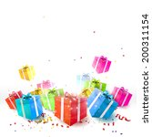 celebrate background with gift... | Shutterstock .eps vector #200311154