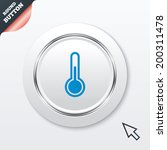thermometer sign icon....