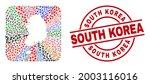 vector mosaic south korea map...   Shutterstock .eps vector #2003116016