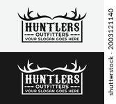 Hunting Antler Badge Emblem...