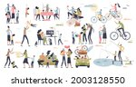 family time set with quality... | Shutterstock .eps vector #2003128550