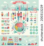 travel infographic set with... | Shutterstock .eps vector #200313239