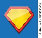 superhero comic logo template... | Shutterstock .eps vector #2003158616