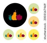 local market circle signboard...   Shutterstock .eps vector #2003167469