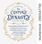 font the century dynasty. craft ...   Shutterstock .eps vector #2003167730