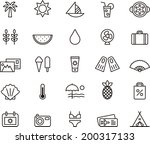 summer icons | Shutterstock .eps vector #200317133