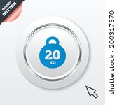 weight sign icon. 20 kilogram ...