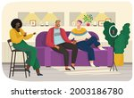 characters sitting on sofa and... | Shutterstock .eps vector #2003186780