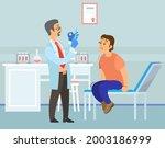doctor making vaccine ... | Shutterstock .eps vector #2003186999