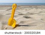 Little Shovel On Beach