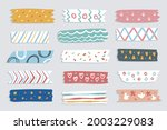 washi tape design collection.... | Shutterstock .eps vector #2003229083