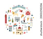 tourist abstract design with... | Shutterstock .eps vector #2003250206