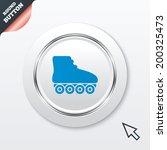 roller skates sign icon. roller ...