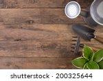 gardening tools o wooden... | Shutterstock . vector #200325644