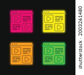 blog four color glowing neon...