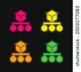 algorithm four color glowing...