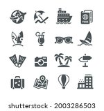 summer vacations icon set  ... | Shutterstock .eps vector #2003286503