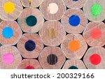 macro photo of sharpened... | Shutterstock . vector #200329166