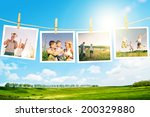 enjoying the life together... | Shutterstock . vector #200329880