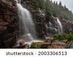 Waterfall In Acadia National...