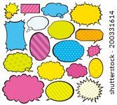 speech bubbles | Shutterstock .eps vector #200331614