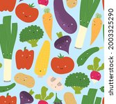 cute vegetables with funny...   Shutterstock .eps vector #2003325290