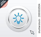 light lamp sign icon. idea...
