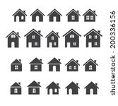 house icon set | Shutterstock .eps vector #200336156