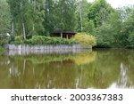 Summer Wooden Lake House Inside ...