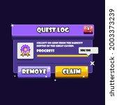 game popup menu settings. buy....
