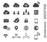 internet icon set | Shutterstock .eps vector #200337428